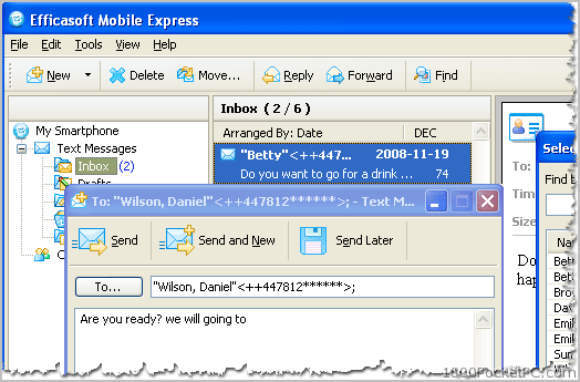 how to read sms inbox from pc