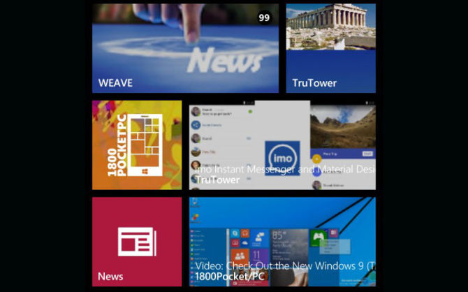 Live Tiles, Pinned websites, Pinnable sites