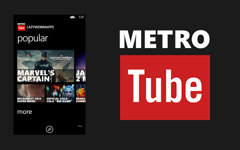MetroTube Update Makes Various Fixes, Improving the YouTube Experience