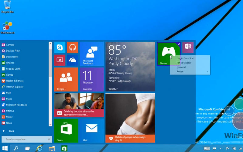 "Report: Windows 9 ""Threshold"" Will Be Available to Current Windows 8 Users as a Free Update"