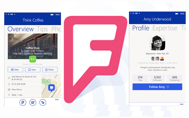 """New, """"More Metro"""" Design Rolls Out to Foursquare With Version 4.0"""