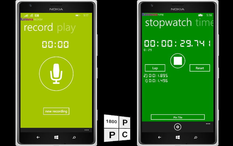 Nova Time and Nova Recorder Provide a Simple Yet Attractive Tool Set to Windows Phone Users