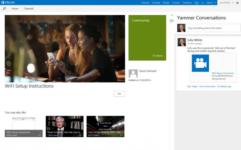 Office 365 Video: Microsoft Embraces Video with Office 365's NextGen Portals