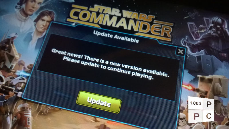 Star Wars commander update, SW commander, free-to-play game