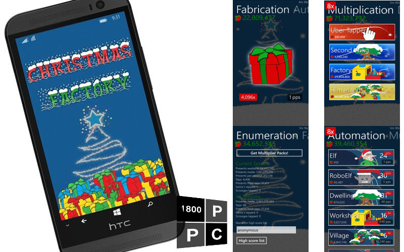 Help Santa Be Productive Without Elves In Christmas Factory for Windows Phone