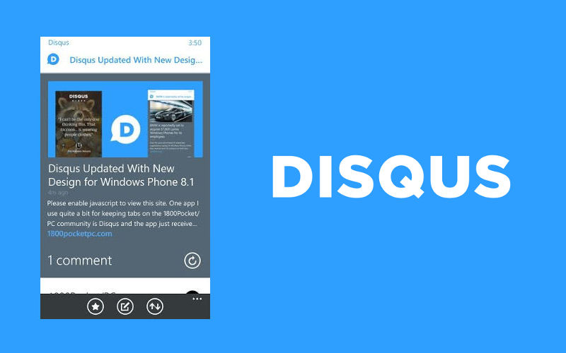 Adding 1800Pocket/PC and Other Sites to Your News Feed in the New Disqus App