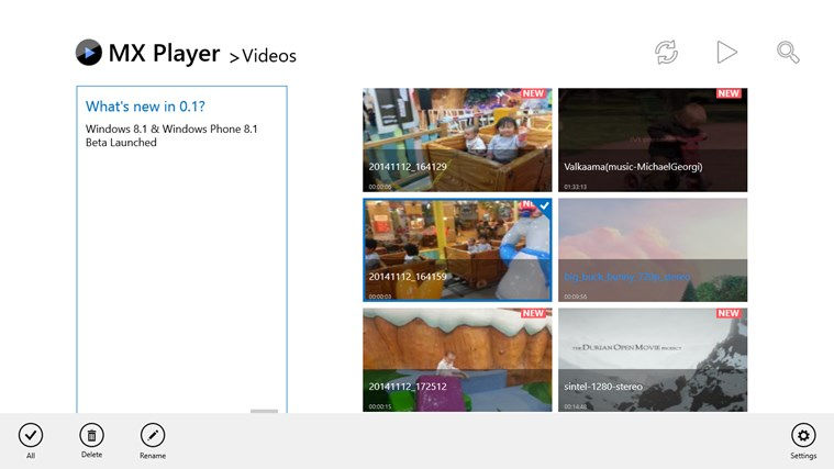 MX Player, Media player for Windows