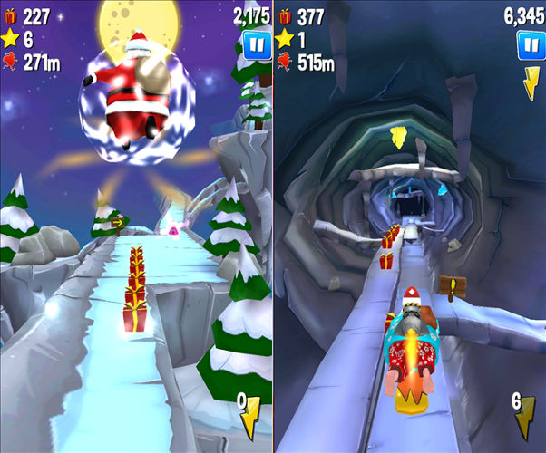 Running With Santa game, Christmas games, Holiday themed games