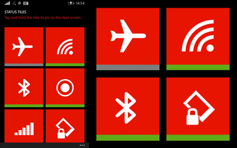 Get One-Tap Access to Important Windows Phone Settings With Status Tiles