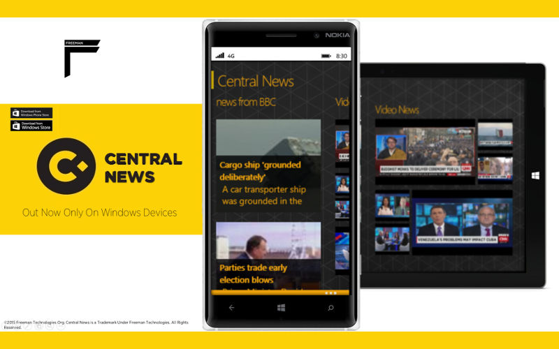 Freeman Technologies release Central News lite to Windows and Windows Phone