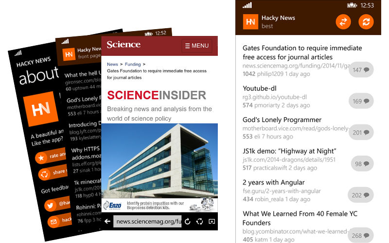 Hacky News Updated With Improved Story List Design and More