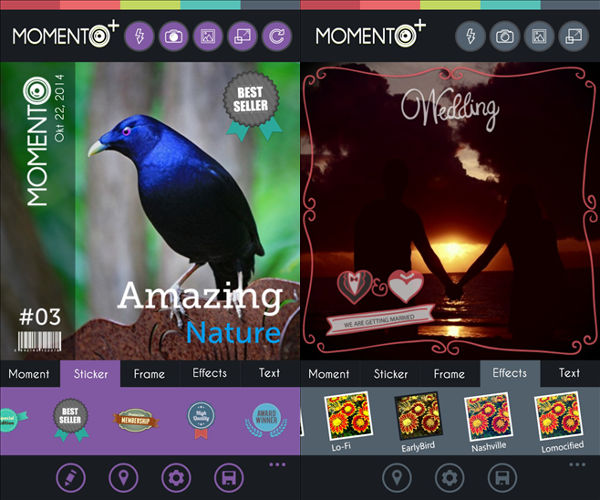 Momento Plus, photo editing, picture editor