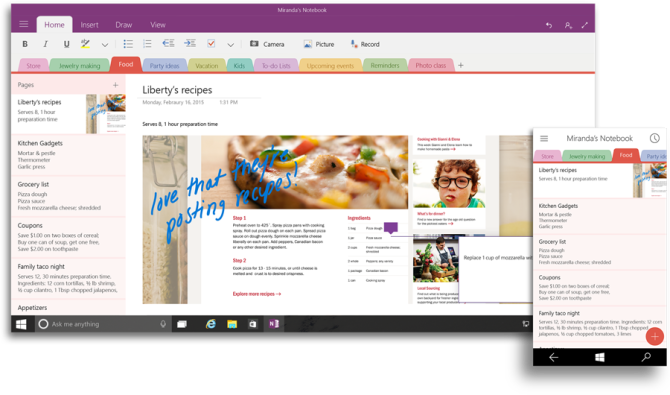 Microsoft OneNote, Note taking apps, Windows 10 office