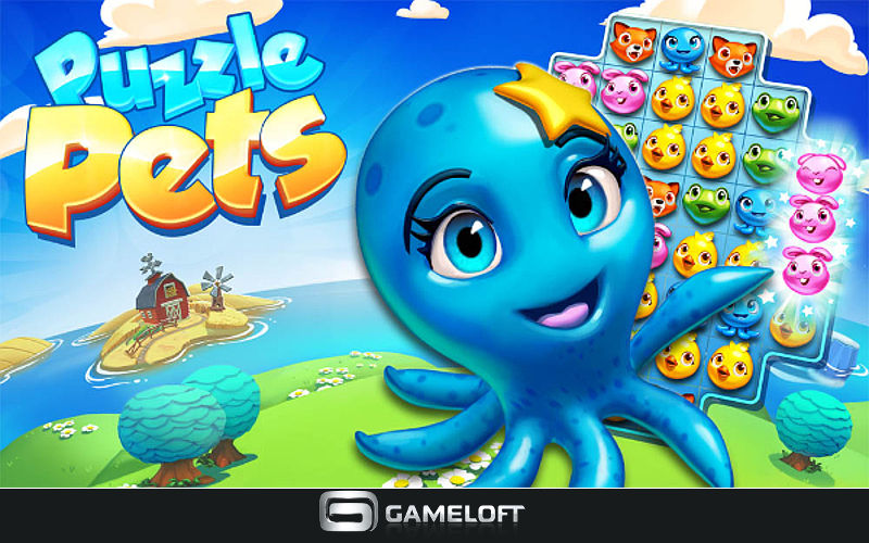 Like Cute Pets and Cool Islands? Gameloft is Launching Puzzle Pets on January 22