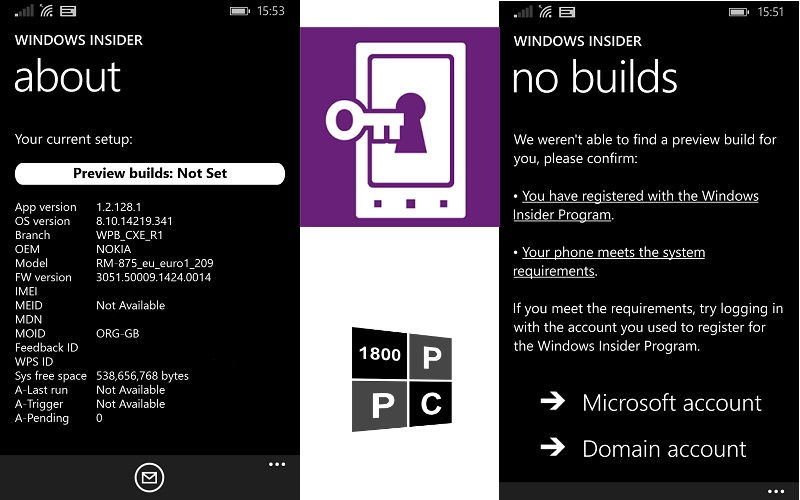 Windows 10 Phone Insider updated, picks up a new name and Microsoft account login