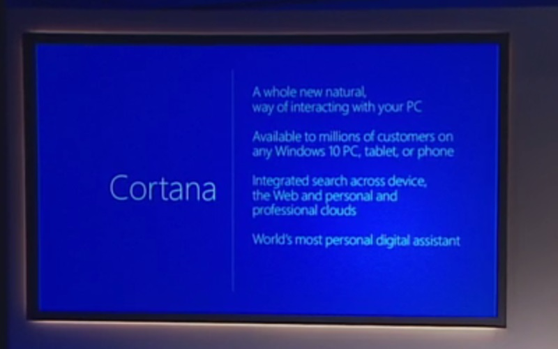 Cortana on Project Spartan and Windows 10