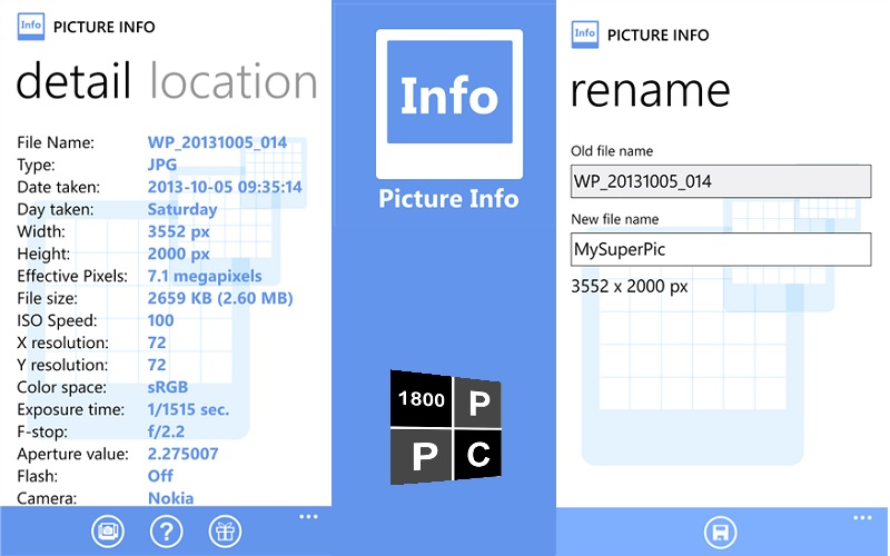 Picture Info gets extensively updated with an abundance of EXIF features