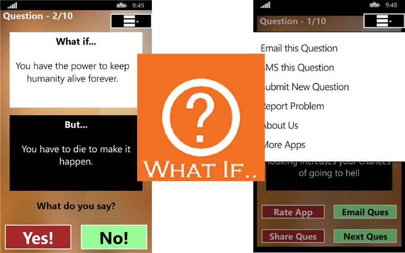WPDeveloper releases What If… on Windows Phone