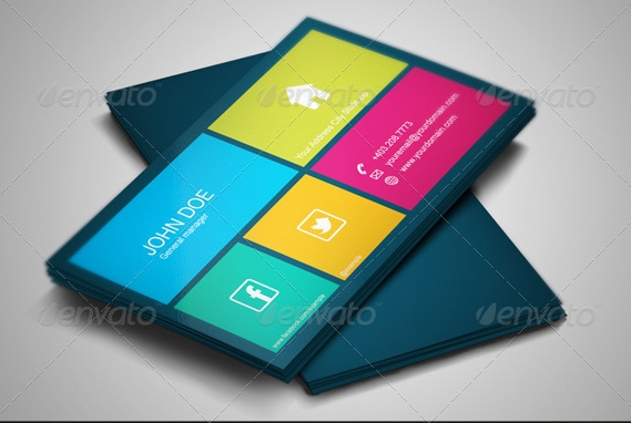 Best metro business cards for windows phone and windows 8 developers metro square business card colourmoves