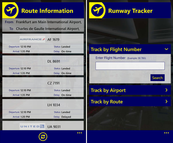 Runway Tracker, track flights and airlines, arliner schedules