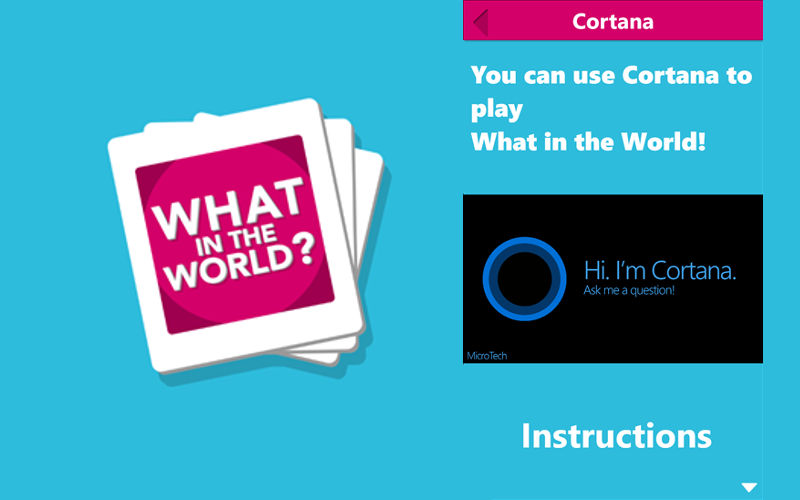 What in the World?, Game Troopers, Cortana games