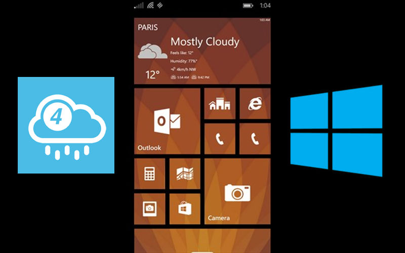 4castr weather app for Windows Phone version 2.0 adds a number of new features, improvements