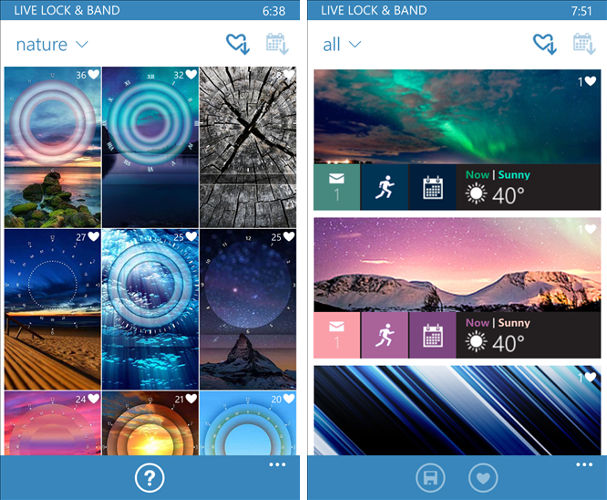 Microsoft Band themes, Customize lock screen,  winphone wallpapers