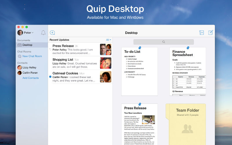 Quip Releases Its Productivity Suite as a Native Windows Desktop Experience