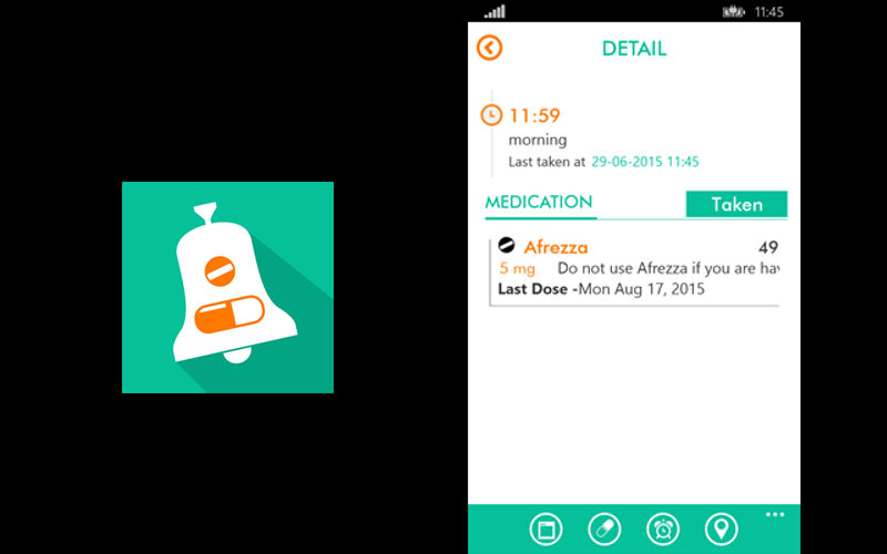 RxReminder helps make it easier for you to take your medication on time