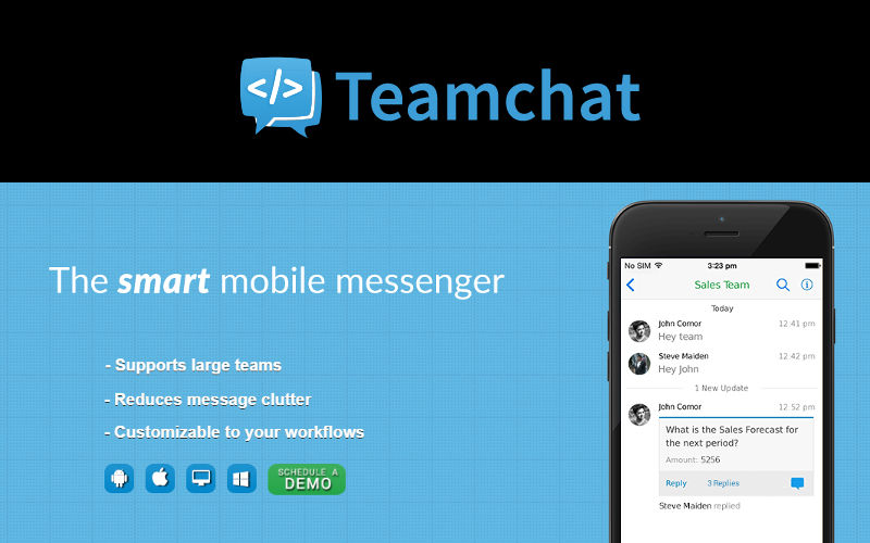 "Messaging in the Workplace: Teamchat ""on the roadmap"" for Windows Phone"