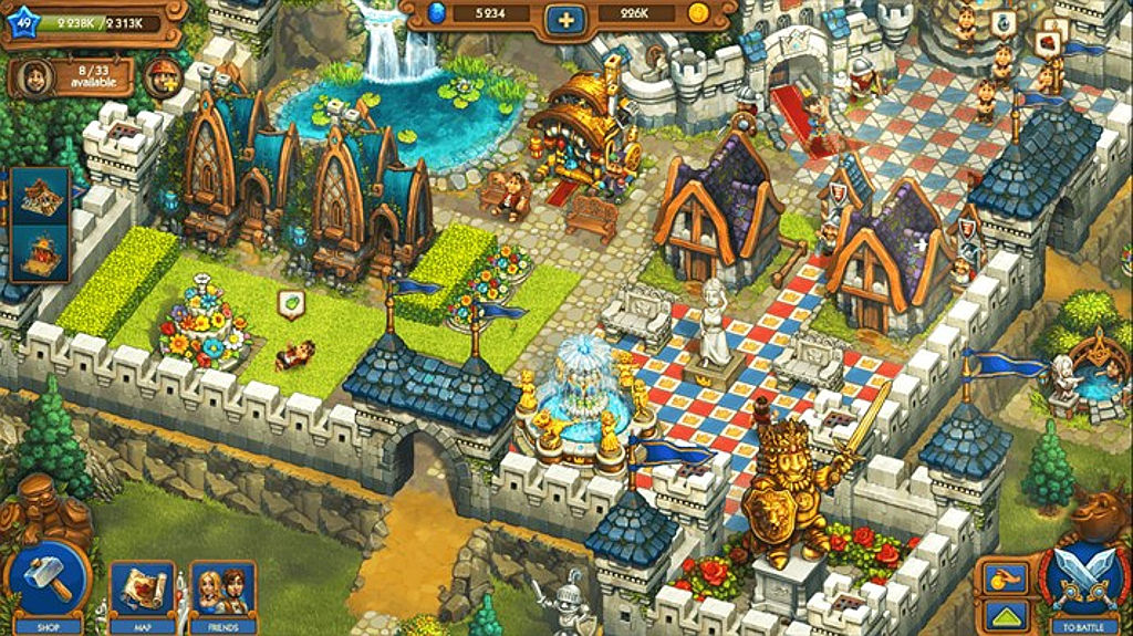 The Tribez and Castlez, tribes and castles game, Windows 10