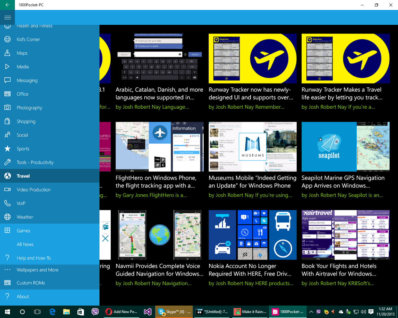 News apps for Windows 10, Win10mobile, Windows 10 Mobile devices