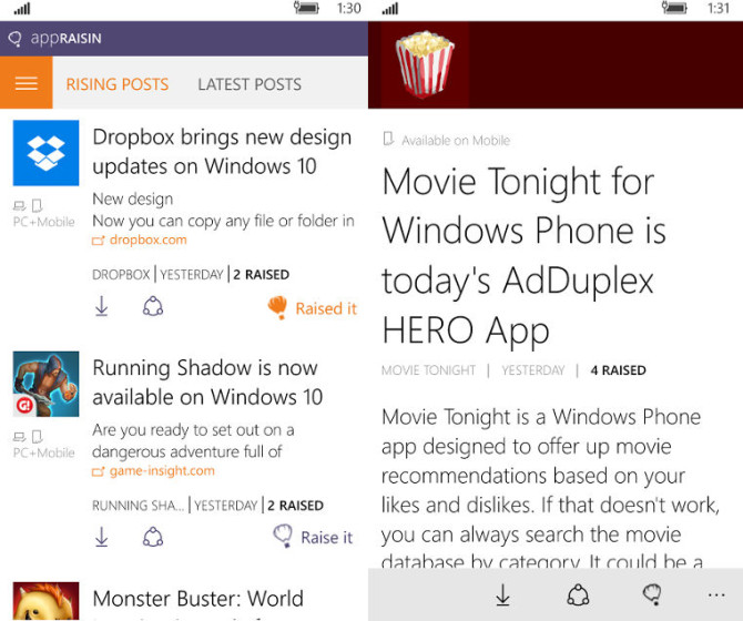 AppRaisin, AdDuplex, Windows 10 devices