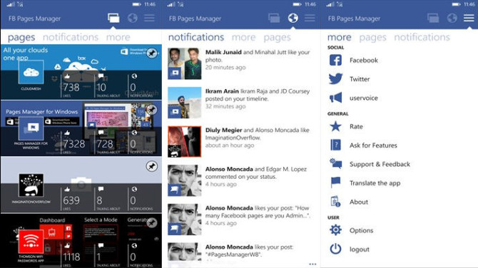 FB Pages Manager, Facebook Management, Business apps