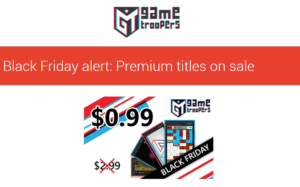 Game Troopers Black Friday Sale