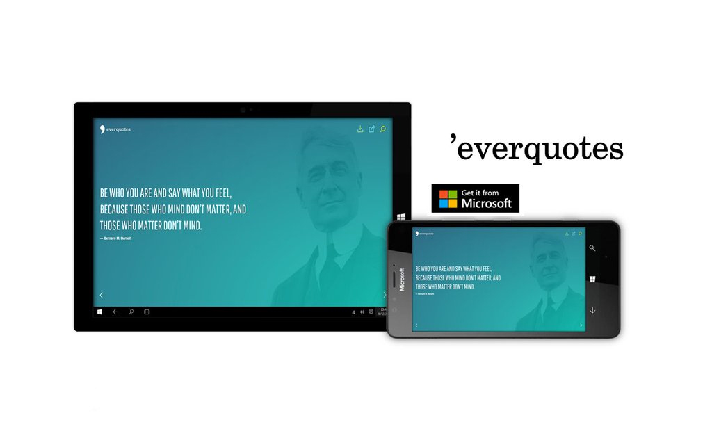 Everquotes brings beautiful quotes exclusively to Windows 10