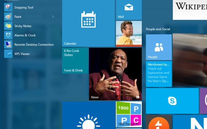 Windows 10 Start menu, Win10 Start Screen, Windows 10 apps